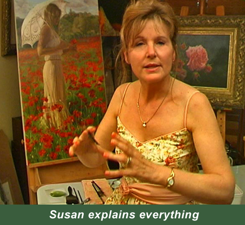 Susan holds nothing back when she teaches and explains all she knows about painting and how to develop the best painting skills.
