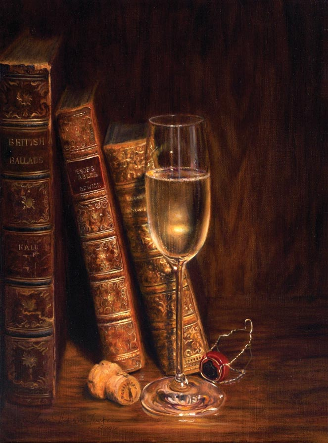 'A Quiet Celebration' - Still Life Painting - Oil on Belgian linen 15 1/2″ x 11 1/2″ 394 mm x 290 mm