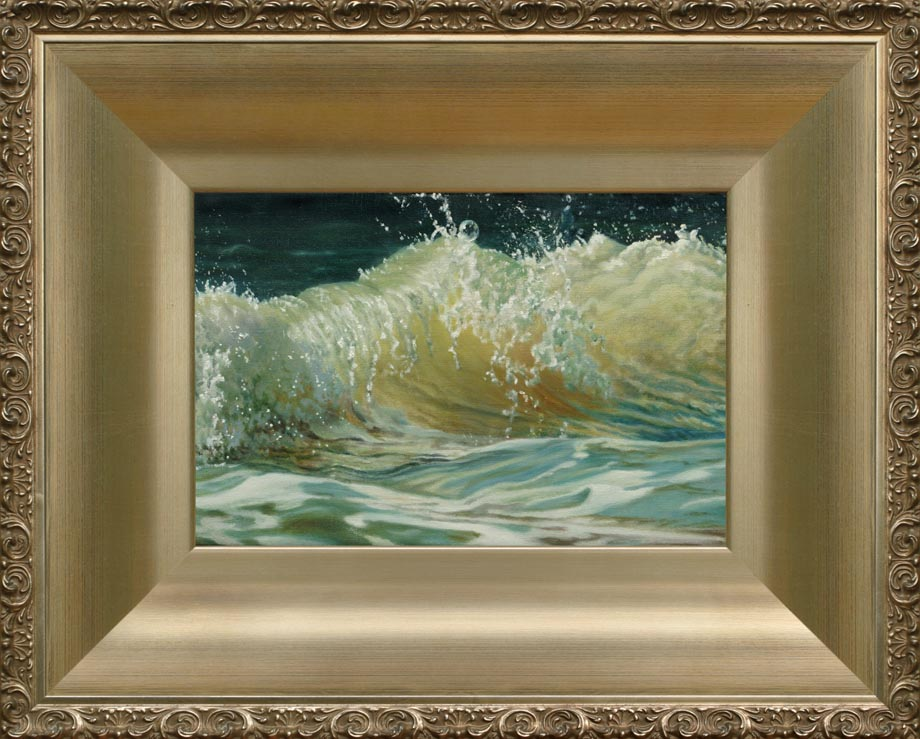 After the Storm 2 framed - Oil on Belgian Linen 8 1/4″ x 12″ 207 mm x 308 mm