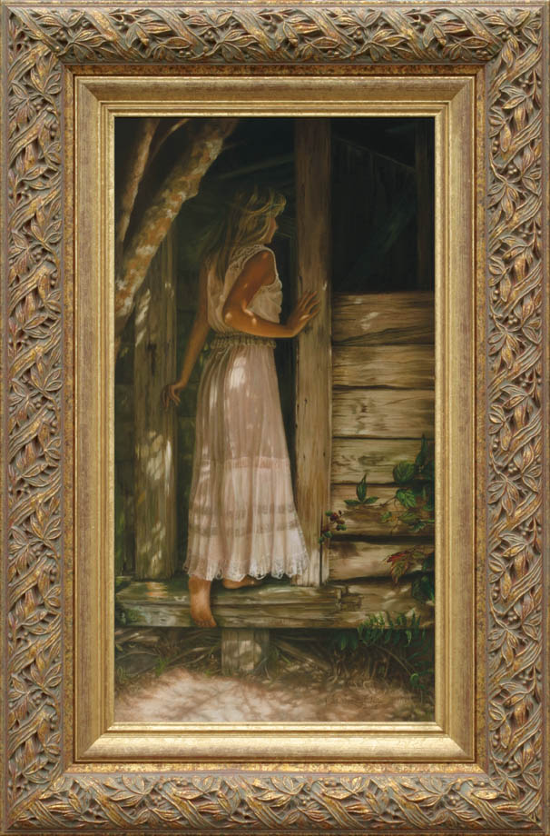 Echoes of Yesterday framed - Oil on Belgian Linen 29 1/4″ x 15 1/2″ 742 mm x 394 mm Available as Giclee Print