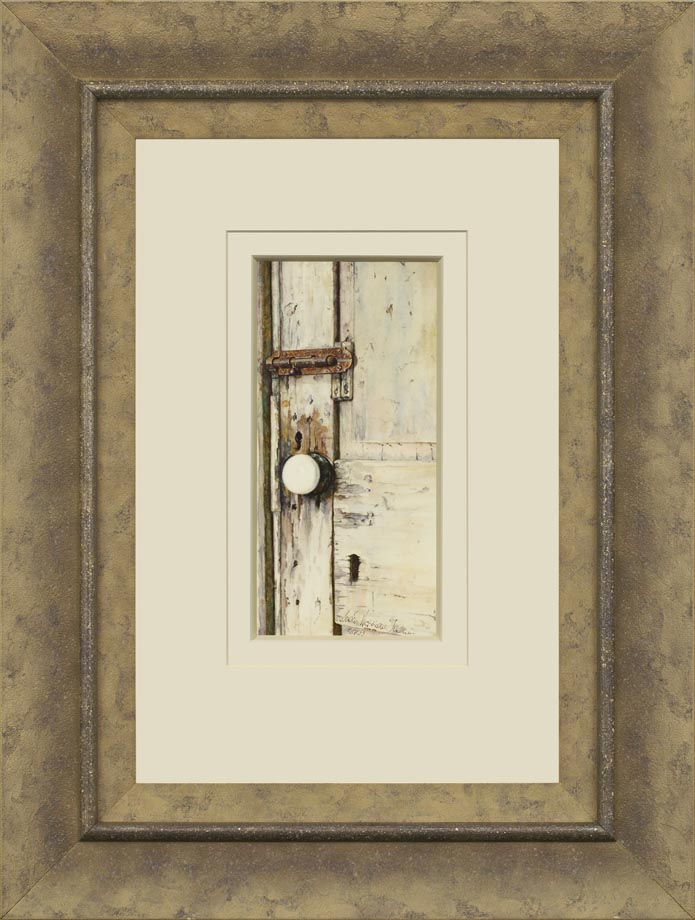 Etched in Time framed - Watercolor on Arches  300 gsm Hot Pressed Paper Size: 11″ x 5 1/4″ 280 mm x 135 mm