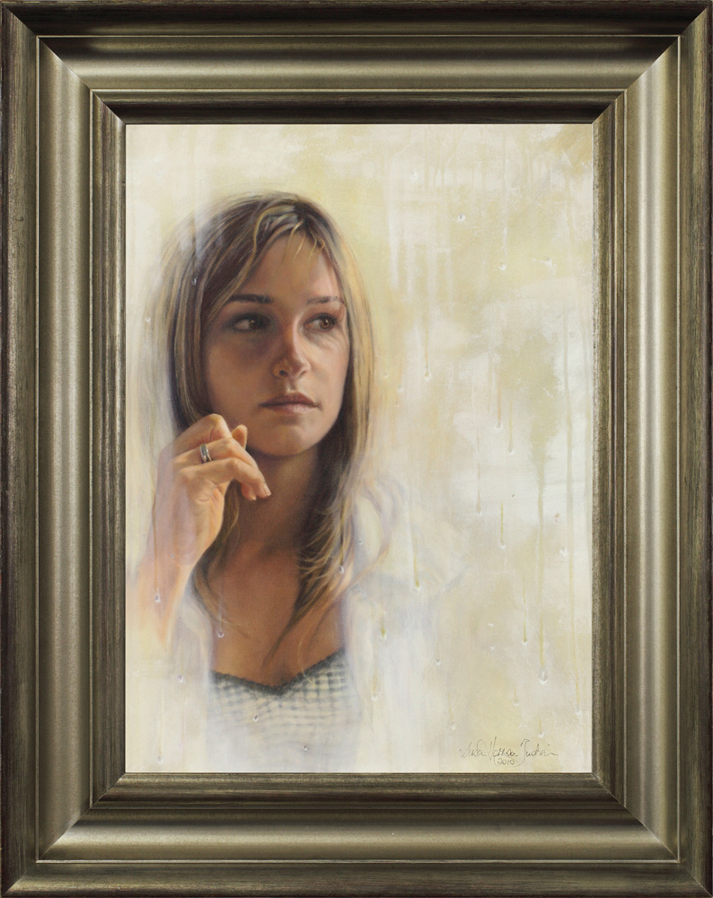 "Faraway framed - Oil on Canvas 22 "" x 16″ 560 mm x 405 mm"