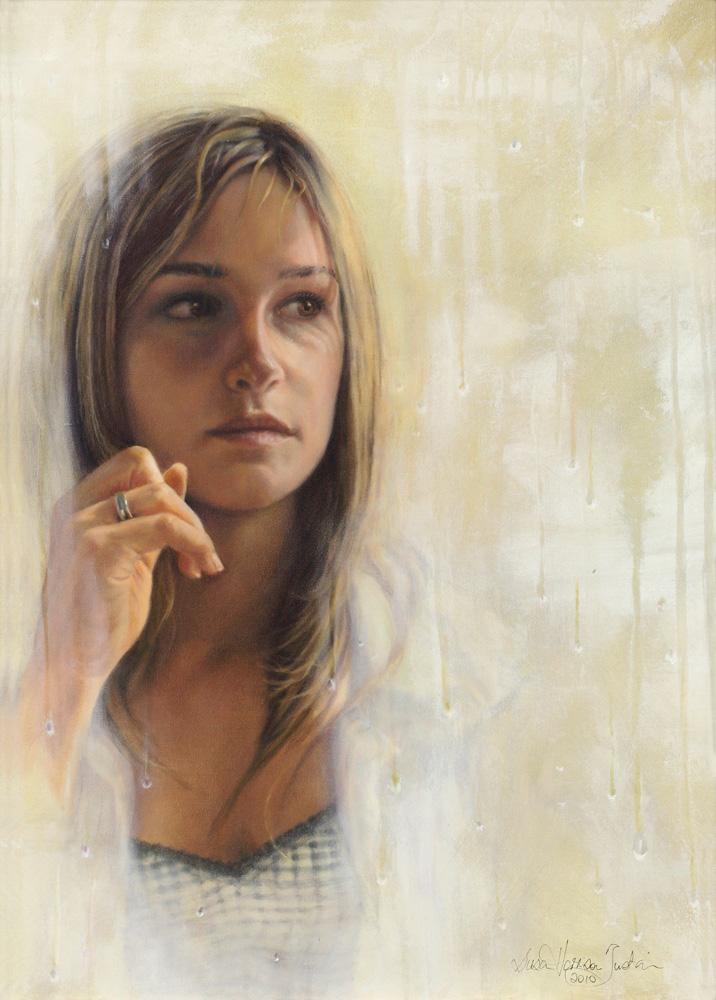 """Faraway"" - Figurative Painting - Oil on Canvas 22 "" x 16″ 560 mm x 405 mm"