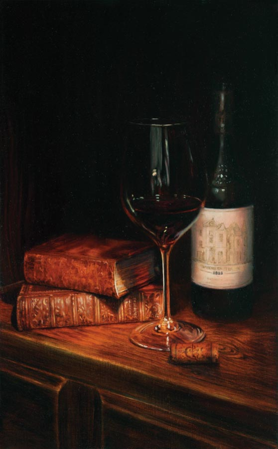 'For the Connoisseur' - Still Life Painting - Oil on Belgian linen 15″ x 9 1/2″ 382 mm x 238 mm
