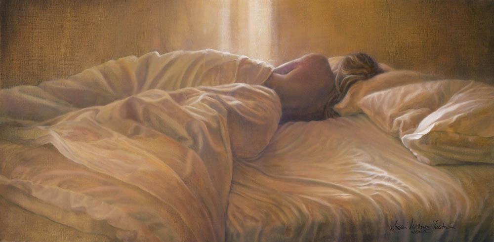 """I Didn't Hear You Leave"" - Figurative Painting - Oil on Belgian Linen 11 3/4″ x 23 1/2″ 295 mm x 598 mm"