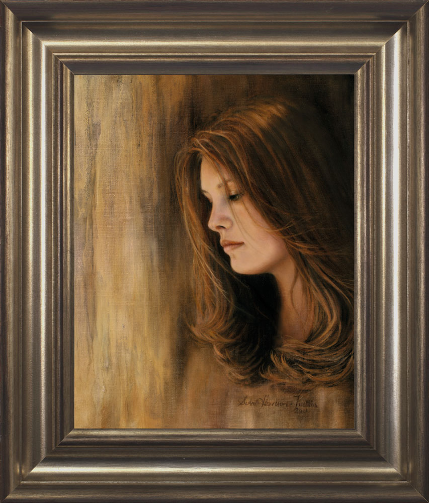 Lost in Thought framed - Oil on Belgian Linen 19 1/2 x 15 1/2″ 495 mm x 395 mm