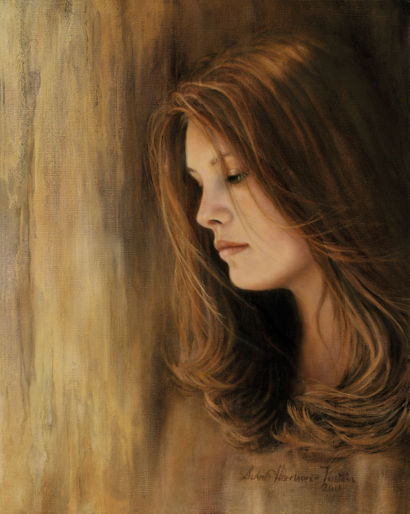 'Lost in Thought' - Figurative Painting - Oil on Belgian Linen 19 1/2 x 15 1/2″ 495 mm x 395 mm