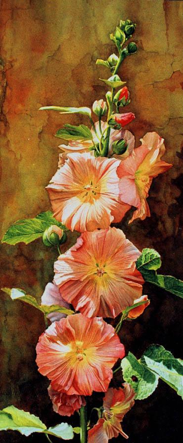 'Qualcosa di Vecchio Qualcosa di Nuovo' - Floral Painting - Watercolor on Arches 300gsm hot pressed paper 24″ x 10″ 610 mm x 255 mm