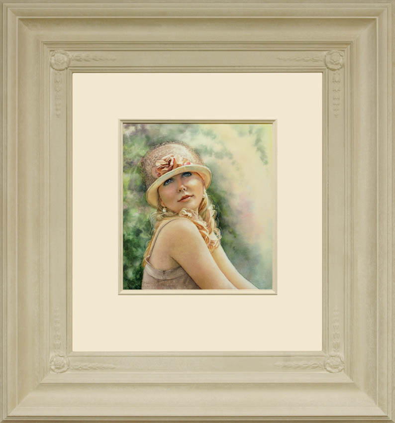 Seventeenth Summer framed - Watercolor on Arches 300gsm hot pressed paper 11 3/4″ x 10 1/2″ 300 mm x 270 mm