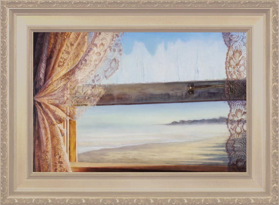 The Lighthouse framed - Oil on Museum grade Marine Ply Size: 16 1/2″ x 23 1/2″ 420 mm x 600 mm