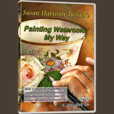 Watercolor painting DVD or video download: 'Painting Watercolor My Way' by Susan Harrison-Tustain - for all skill levels