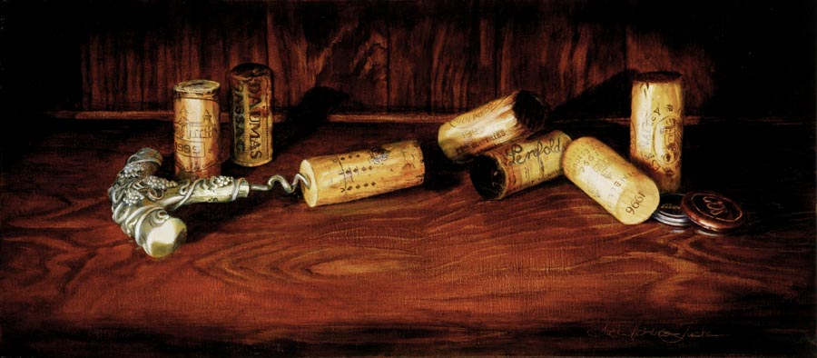 'Generous Host' - Still Life Painting - Oil on Belgian linen 10 1/4″ x 22″ 258 mm x 562 mm