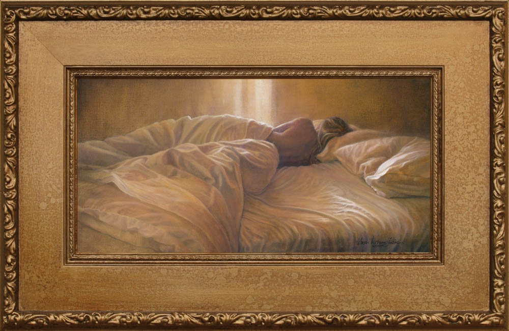 I didn't hear you leave framed - Oil on Belgian Linen 11 3/4″ x 23 1/2″ 295 mm x 598 mm