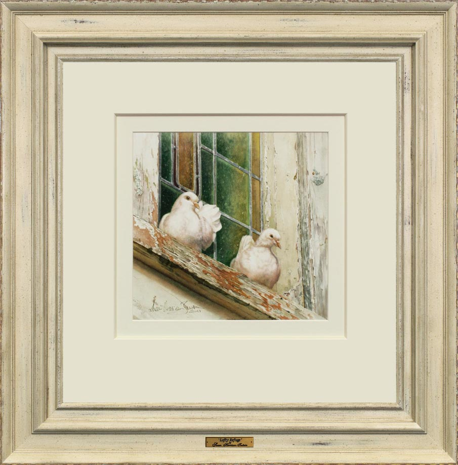 Lofty Refuge framed - Watercolor on Arches 300 gsm Hot Pressed paper Size: 12″ x 20″ 320 mm x 510 mm