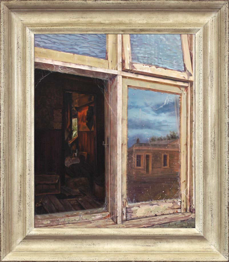 Ophir - Past and Present framed - Oil on Belgian Linen Size 24″x20″ inch 610 mm x 510 mm