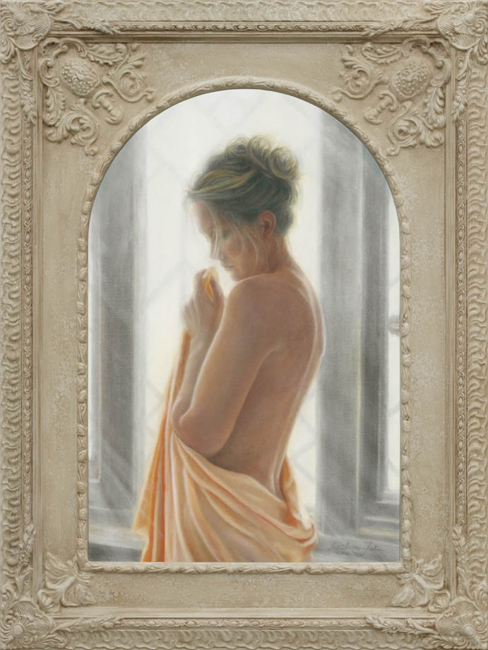 So Far Away framed - Oil on Belgian Linen 29″ x 19 1/4″ 740 mm x 490 mm
