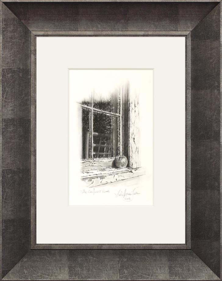 The Seafarer's House framed - Size: 14 1/4″ x 8 3/4″  360 mm x 225 mm