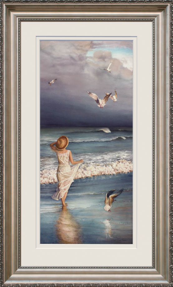 The Wind's Song framed - Watercolor on Arches 300gsm hot pressed paper 43″ x 19 1/4″ 1090 mm x 490 mm