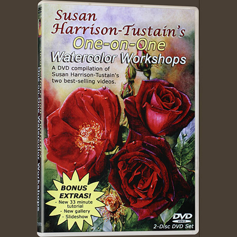 Watercolor painting DVD or video download: 'One-on-One Watercolor Workshops' by Susan Harrison-Tustain - for all skill levels