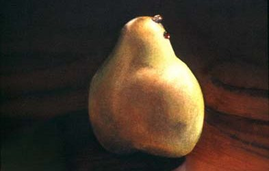 Still life Painting: Pear on wood in watercolor – Color Temperature – Watercolor Technique