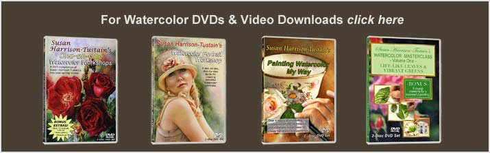 Watercolor art instruction DVDs and Video Downloads