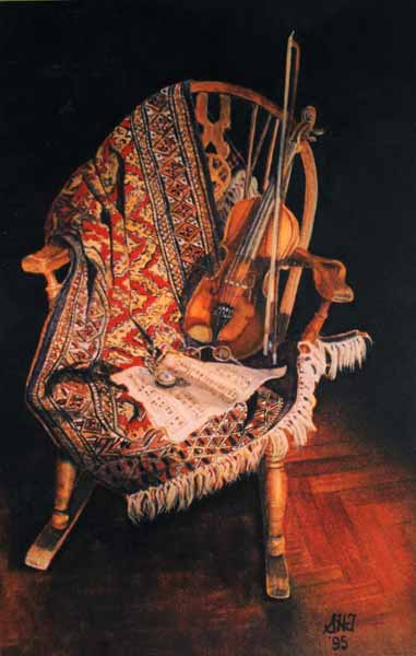 Watercolor painting 'Tempo d'Amati'