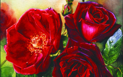 HOW TO PAINT ROSES AND OTHER SUBJECTS USING GLOWING REDS