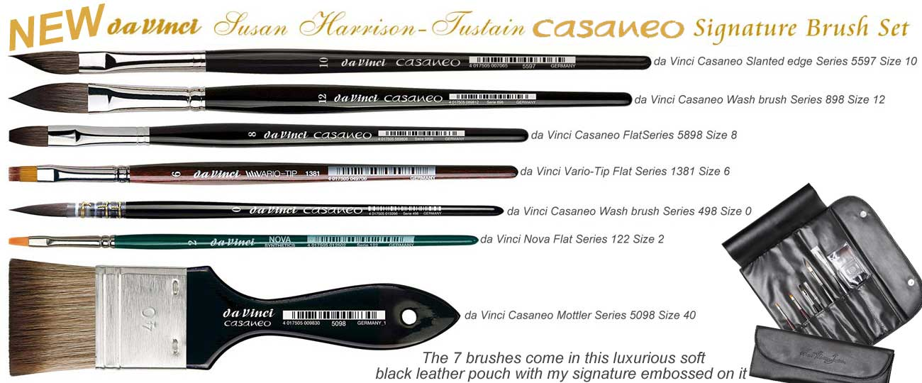 da Vinci Casaneo set 5275 all 7 brushes & pouch