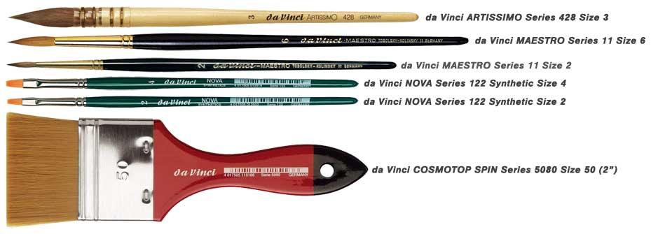 da Vinci Brushes Susan Harrison-Tustain set 1